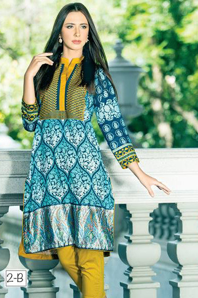 Zanisha Embroidered Kurti 2016 – 2B - YourLibaas  - 1