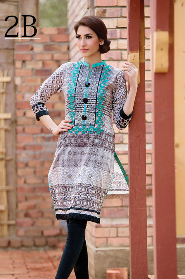 Subhata Embroidered Lawn Tunic Collection - 2B - YourLibaas  - 1