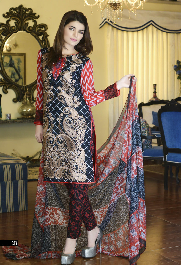 Kalyan Designer Embroidered Collection 2016 – 2B - YourLibaas  - 1