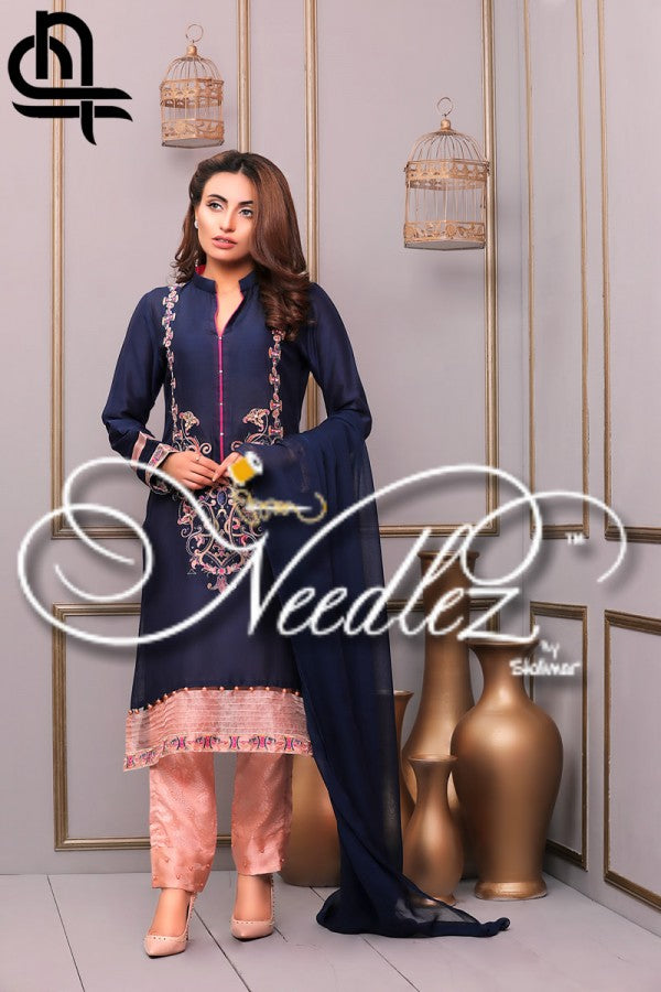 Needlez By Shalimar - Stay Bloom Cotton Net Collection – 002733 A