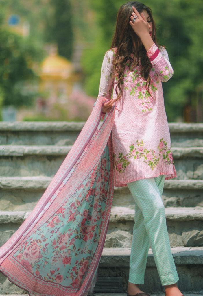 Mina Hasan Designer Lawn Collection 2016 –  2A - YourLibaas  - 1