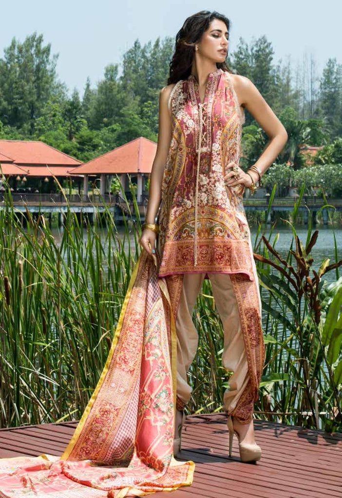Shehla Chatoor Luxury Lawn Collection SS '16 – 2A - YourLibaas  - 1