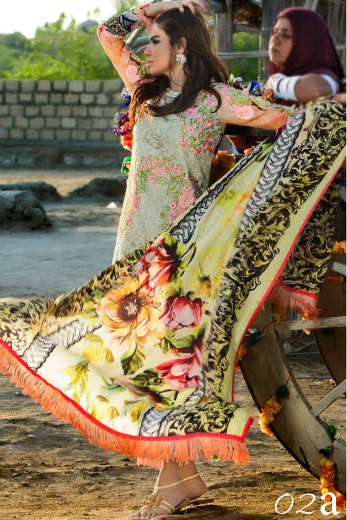 Ayesha Ibrahim Festive Luxury Lawn Collection – 2A