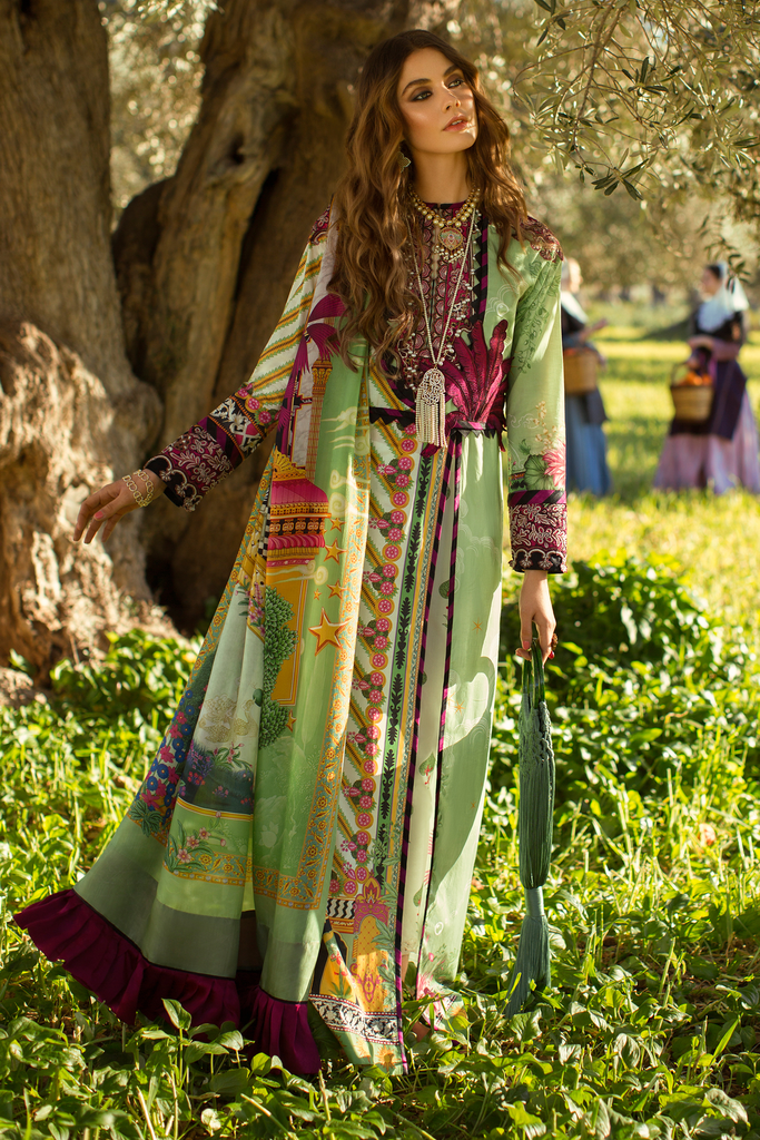 Élan Luxury Lawn Collection 2019 – EL-09 A (VIVIR)