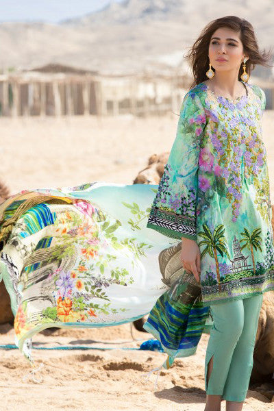 Crimson Luxury Lawn by Saira Shakira – Floral Relics – Jade