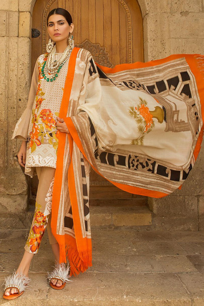 Sana Safinaz Winter Shawl Collection 2017 – 02B