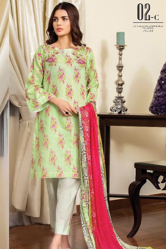 Sahil Designer Lawn Collection Vol-8 – 02C