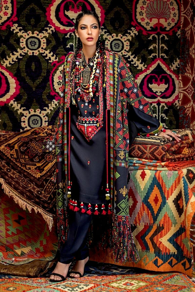 Gul Ahmed Winter Collection – Wadi-e-Swat – 3 PC Embroidered Twill Linen Suit LT-04