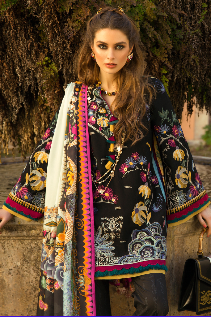 Élan Luxury Lawn Collection 2019 – EL-10 A (FANTASÍA)