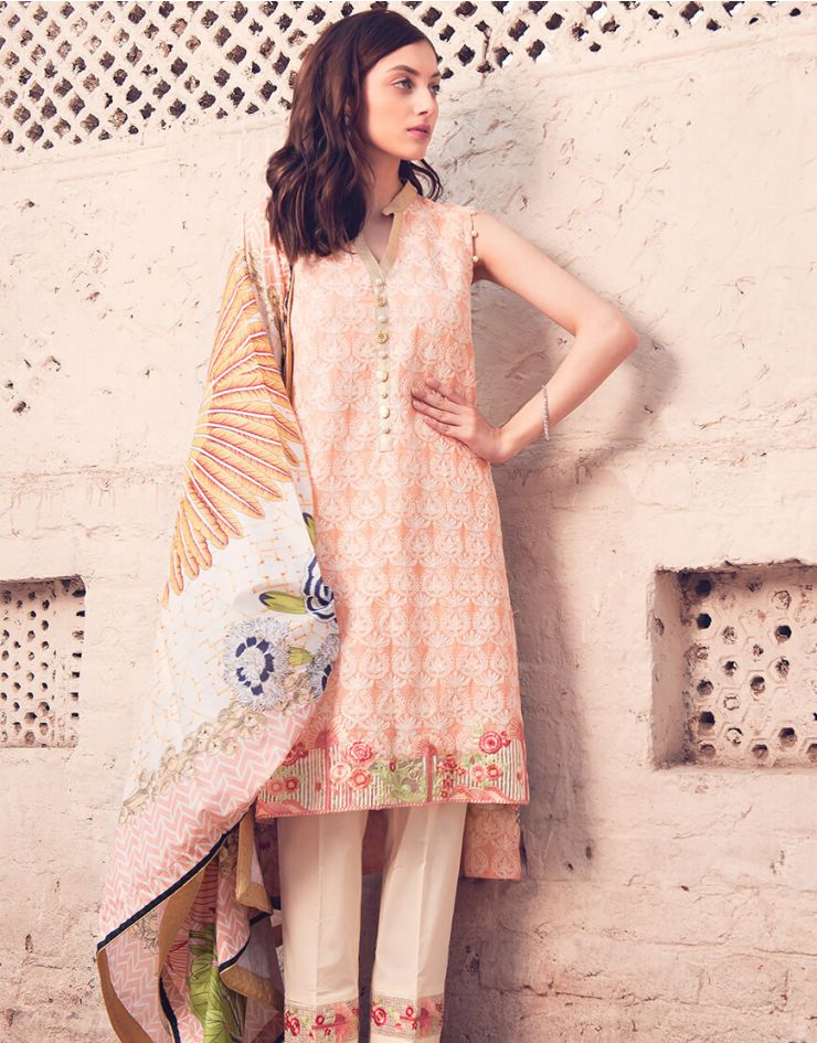 Rang Rasiya Rouge Lawn Collection 2018 – 3004 A