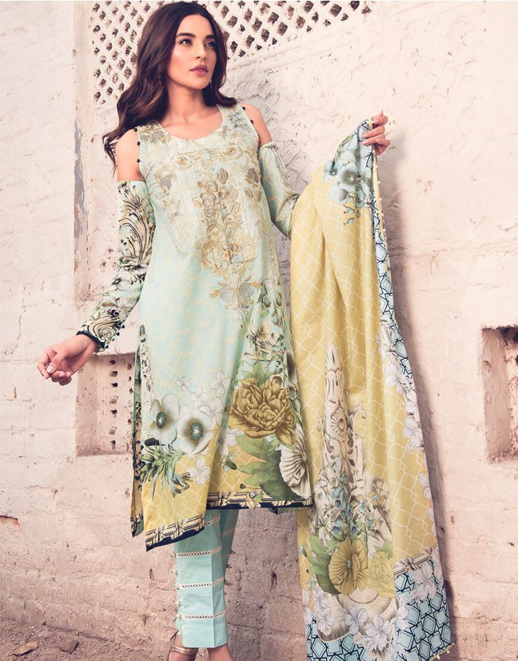 Rang Rasiya Rouge Lawn Collection 2018 – 3007 A