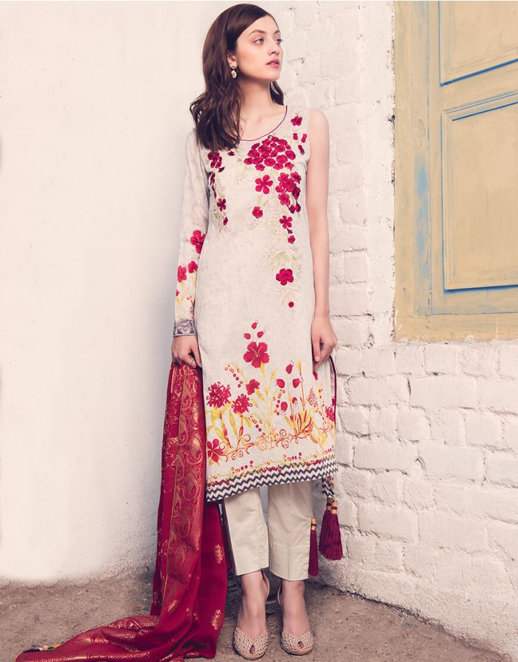 Rang Rasiya Rouge Lawn Collection 2018 – 3008 A