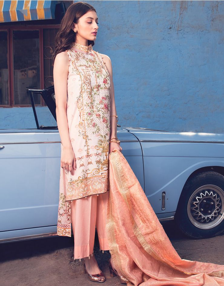 Rang Rasiya Rouge Lawn Collection 2018 – 3009 A