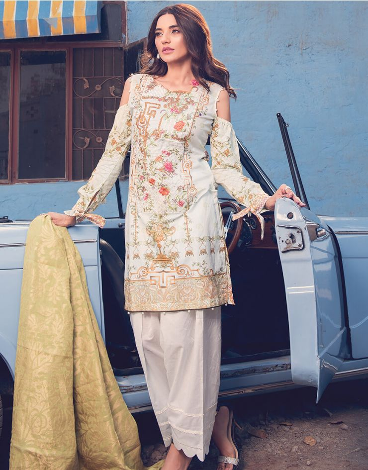 Rang Rasiya Rouge Lawn Collection 2018 – 3009 B
