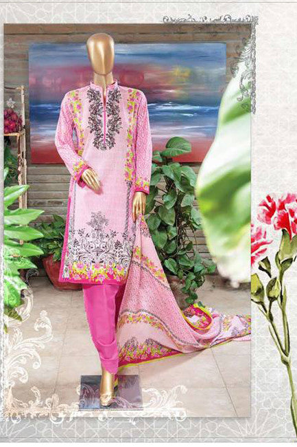 HZ Textiles Diamond Classic Lawn Collection Vol-2 – Design 30 Pink