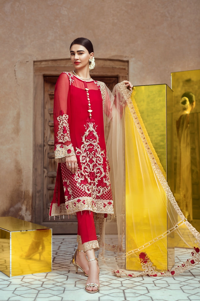 Serene Premium Fervour Fiesta Chiffon Collection Vol 6 – 06: Red Galore