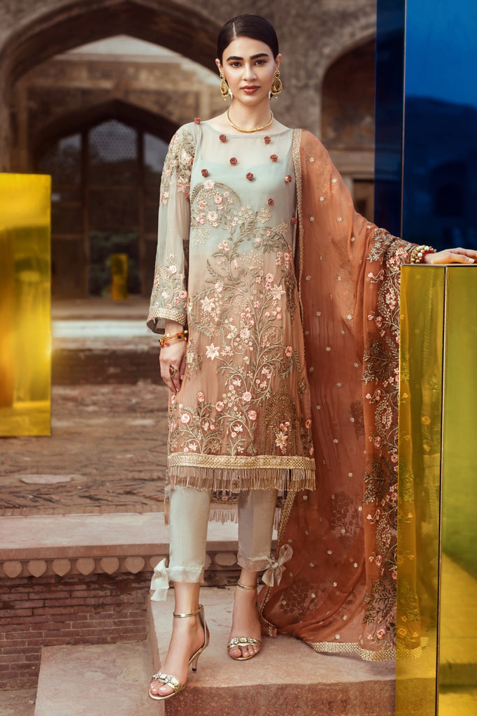 Serene Premium Fervour Fiesta Chiffon Collection Vol 6 – 03: Pastel Sunrise