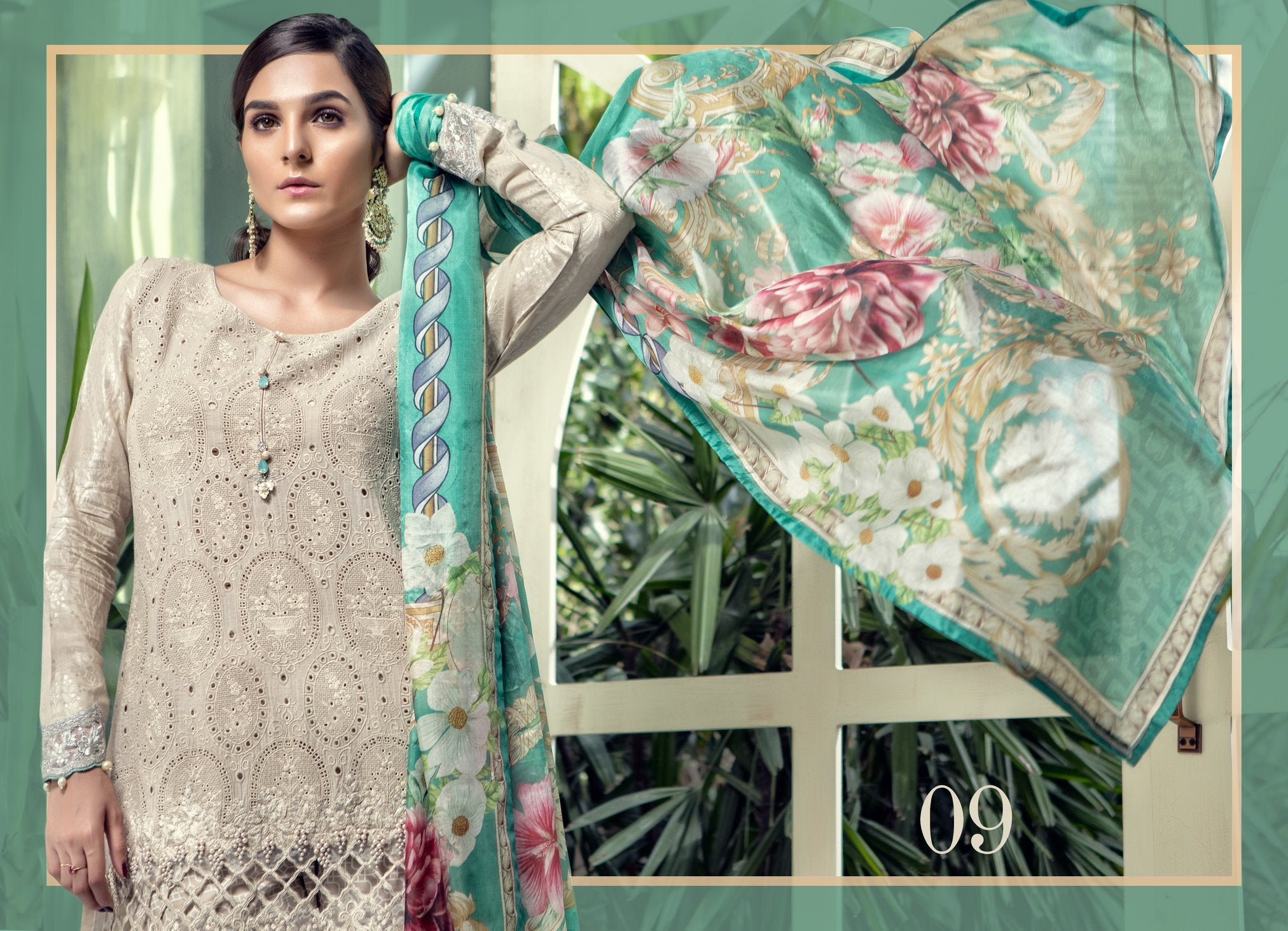 7a23a4f50a MARIA.B. Eid Lawn Collection 2018 – D-509 Beige – YourLibaas