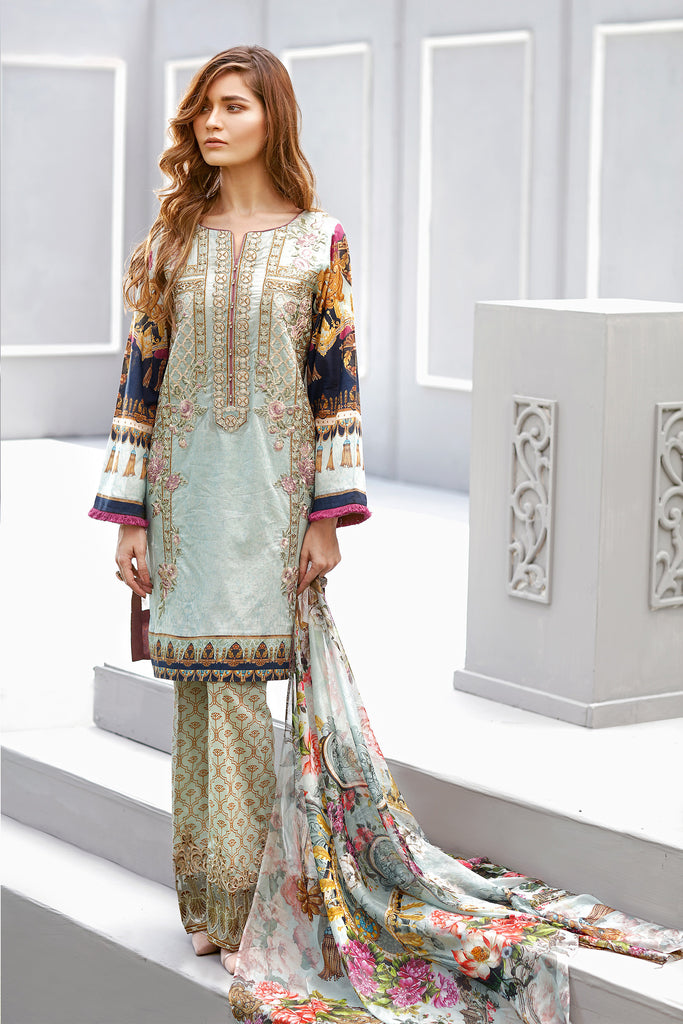 Baroque Eid Lawn Collection 2017 – Martini Marina