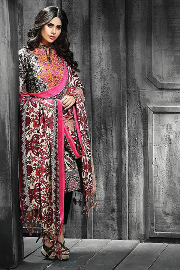 RajBari Silk Karandi Winter Collection 2015 - 3A - YourLibaas  - 1
