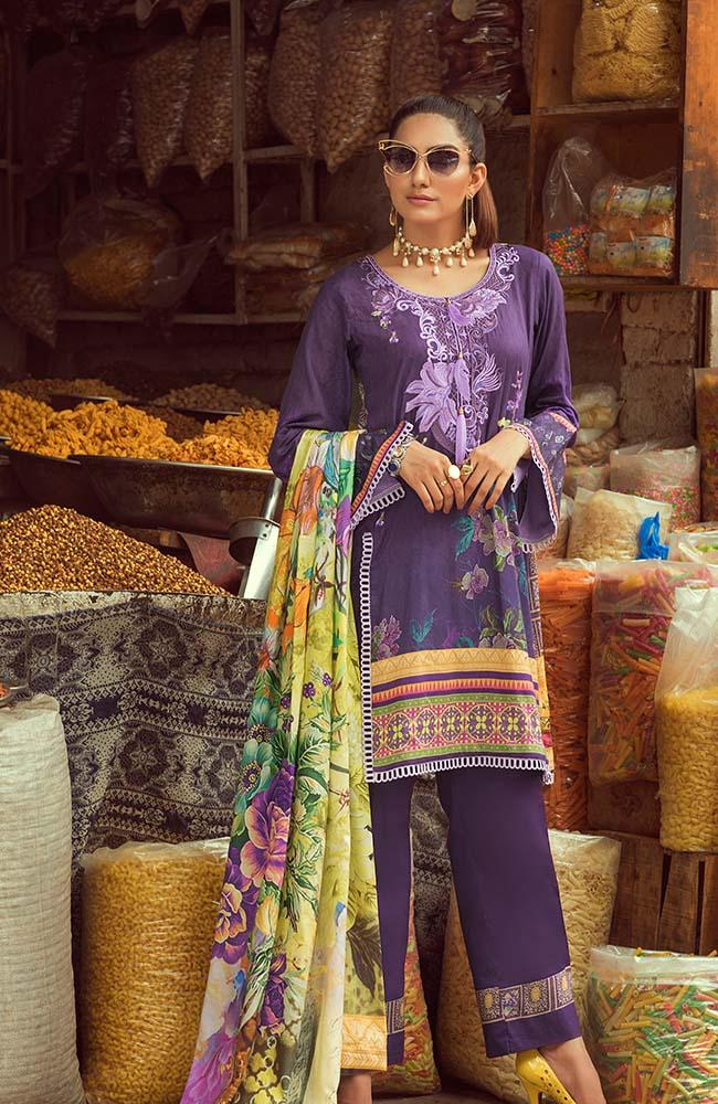 Rung by Al Zohaib Embroidered Lawn Collection 2020 – RNE20-03B