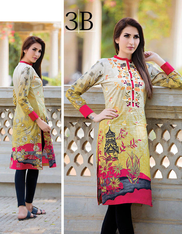 Subhata Embroidered Lawn Tunic Collection - 3B - YourLibaas  - 1