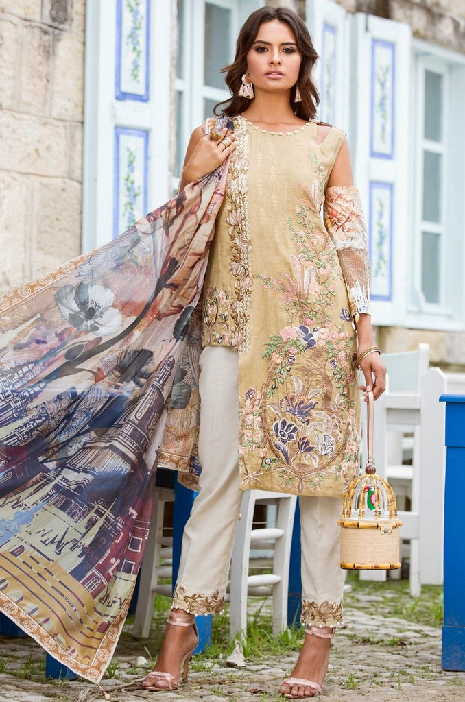 Shiza Hassan Luxury Lawn Collection '18 – Caprice -1B