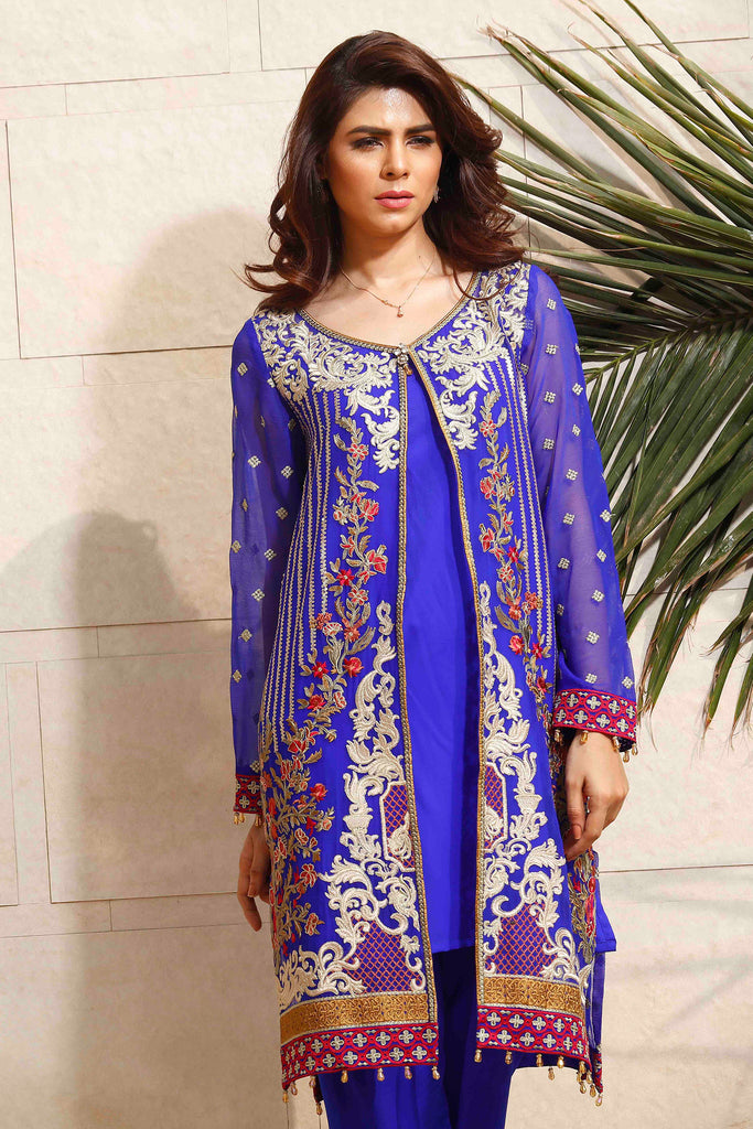 Baroque Fuchsia Chiffon Collection 2016 – Glitz - YourLibaas  - 1