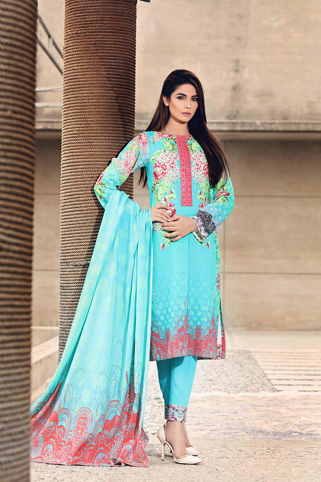 Noor by Saadia Asad - Natural Neon - YourLibaas  - 1