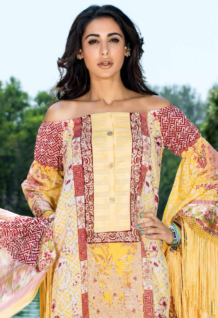 Shehla Chatoor Luxury Lawn Collection SS '16 – 3A - YourLibaas  - 1