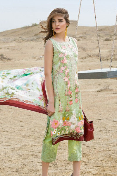 Crimson Luxury Lawn by Saira Shakira – Globe Trotter – Honeydew