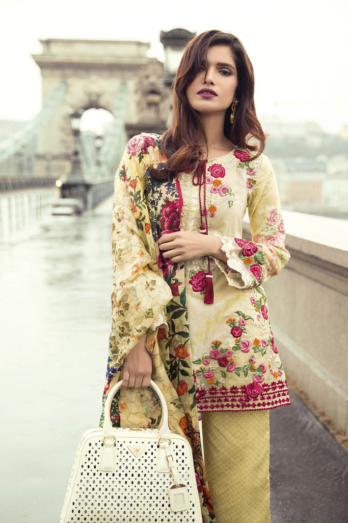 Mina Hasan Embroidered Lawn 2017 – 3A