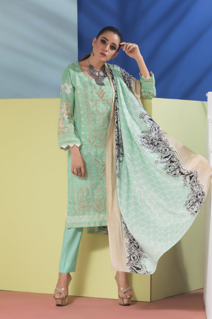 Sahil Designer Embroidered Lawn Collection Vol 6 – SH6-3A