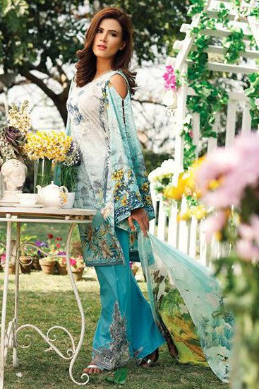 RajBari Embroidered Lawn Collection 2017 – 3B