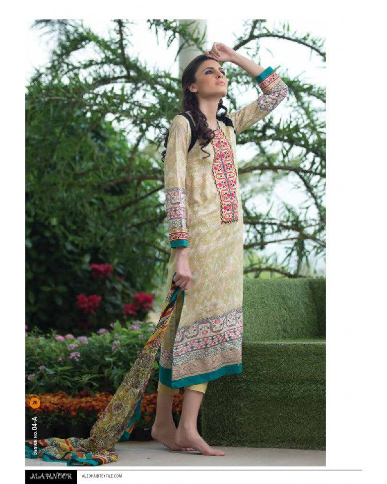4A - Mahnoor Embroidered Collection 2015 - YourLibaas  - 1