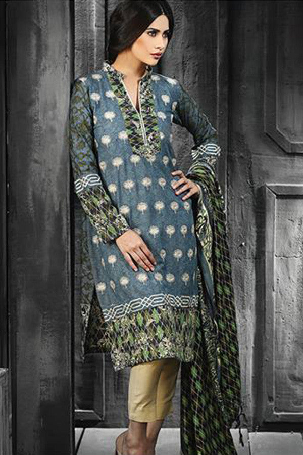 RajBari Silk Karandi Winter Collection 2015 - 4A - YourLibaas  - 1