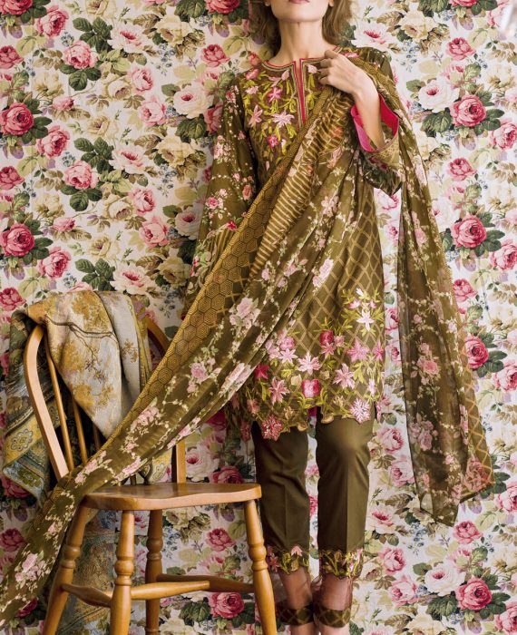 Feminine Embroidered Lawn Collection 2017 – 4B