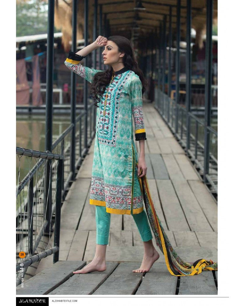 4B - Mahnoor Embroidered Collection 2015 - YourLibaas  - 1