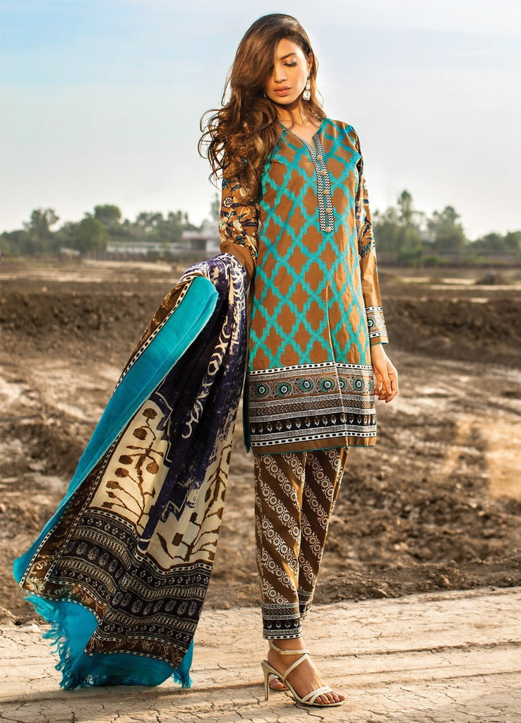 Sana Safinaz Winter Shawl Collection 2015 - 04B - YourLibaas