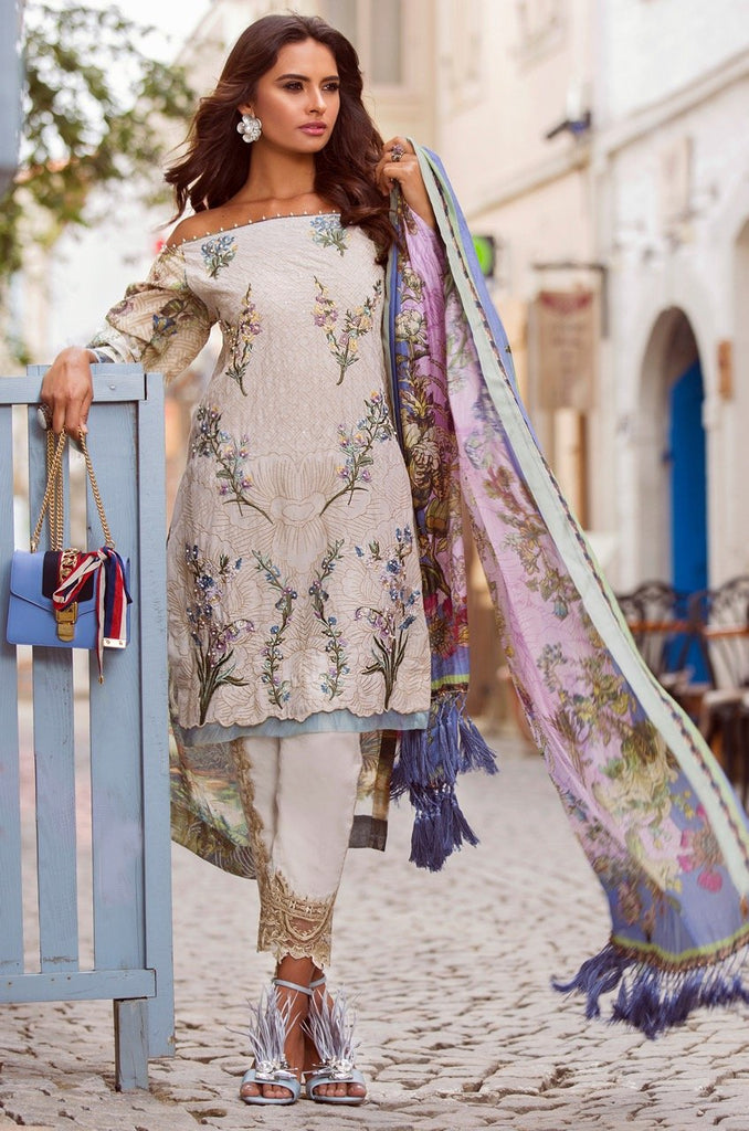 Shiza Hassan Luxury Lawn Collection '18 – Delphinium - 2B