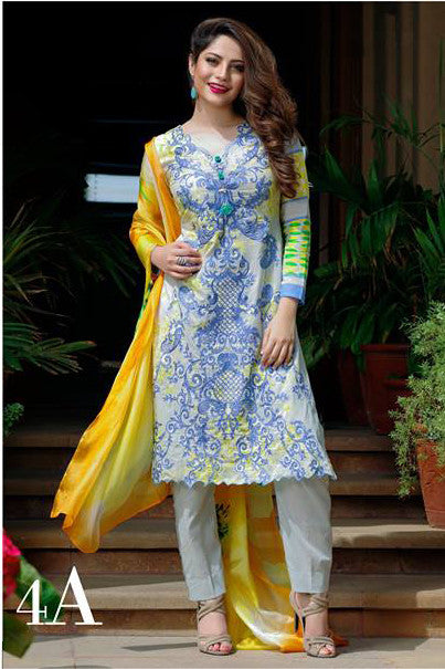 Ayesha Zara Eid Collection By Al Zohaib – 4A - YourLibaas  - 1