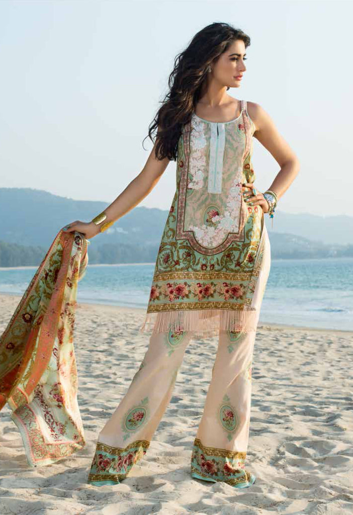 Shehla Chatoor Luxury Lawn Collection SS '16 – 4B - YourLibaas  - 1