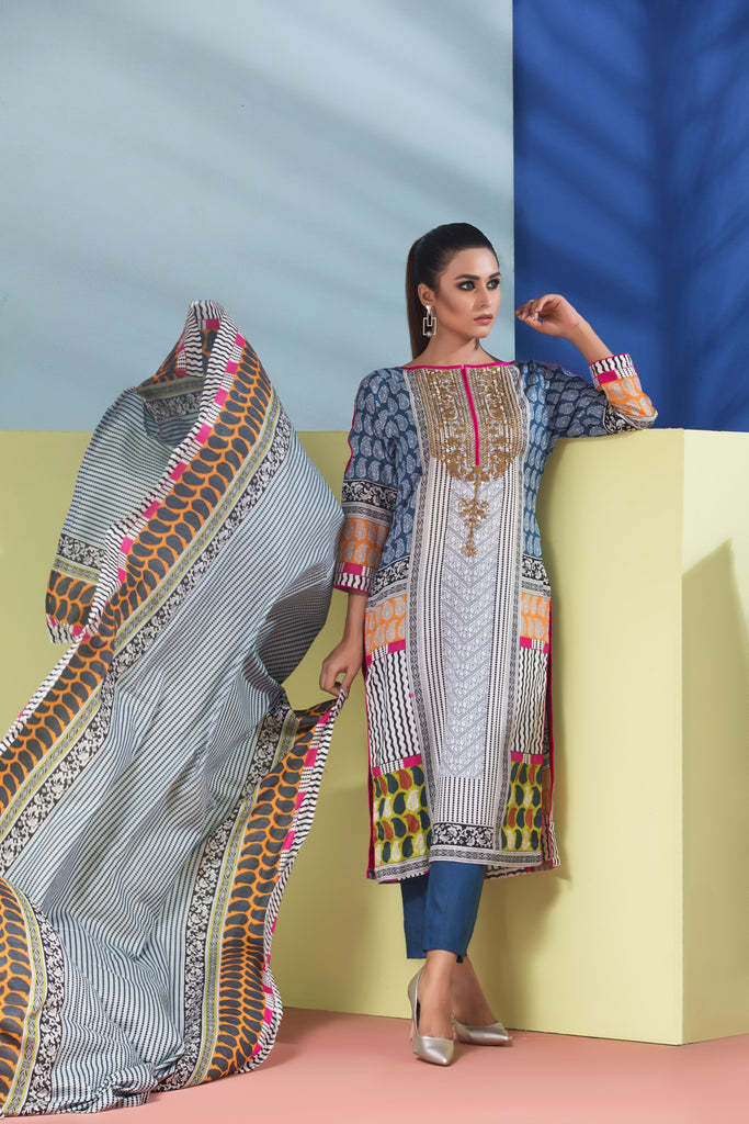 Sahil Designer Embroidered Lawn Collection Vol 6 – SH6-4B