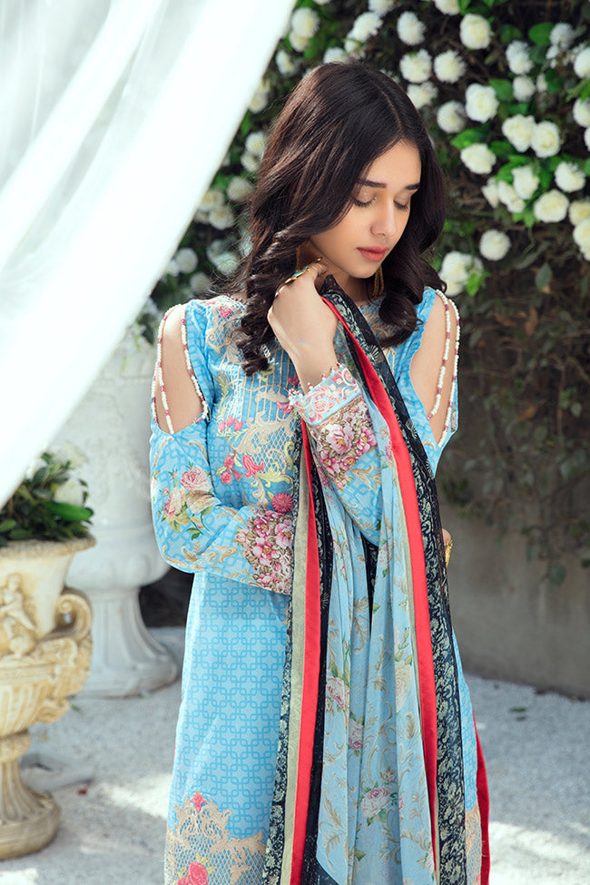 Gulaal Lawn Collection Vol-1 2018 – GL-02 Sky Blue