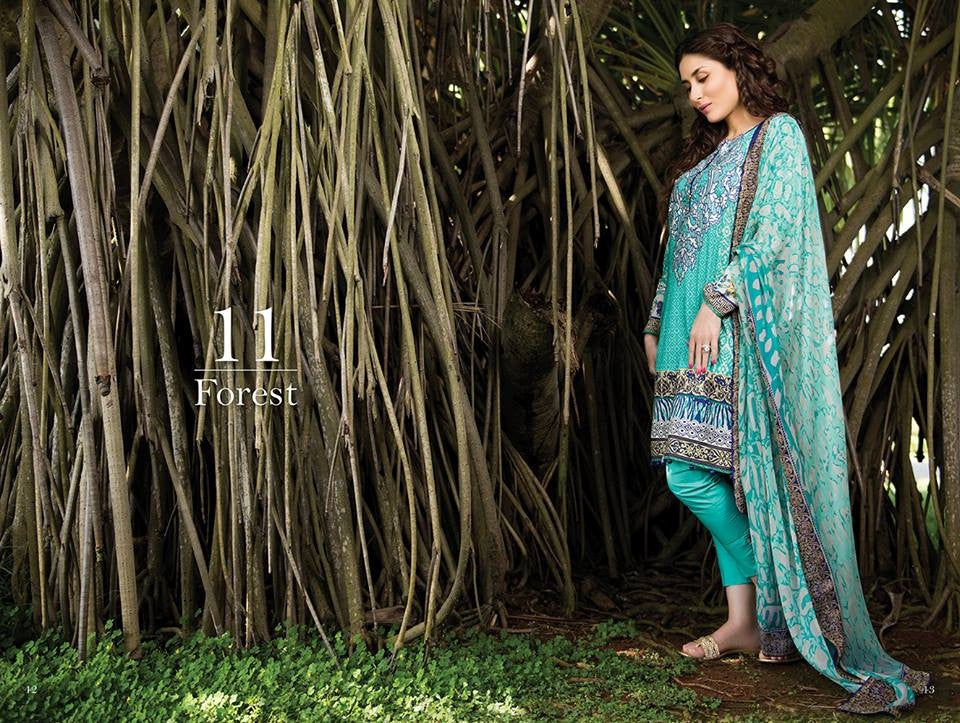 11 - Faraz Manan Crescent Lawn Collection 2015 - YourLibaas