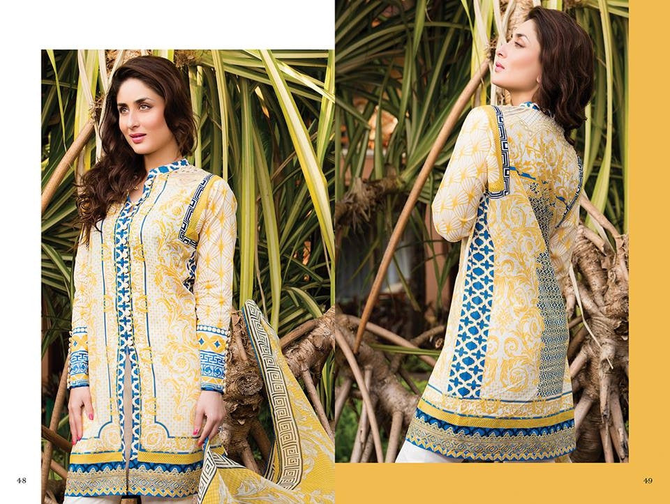 12 - Faraz Manan Crescent Lawn Collection 2015 - YourLibaas