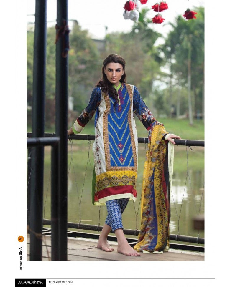 5A - Mahnoor Embroidered Collection 2015 - YourLibaas  - 1