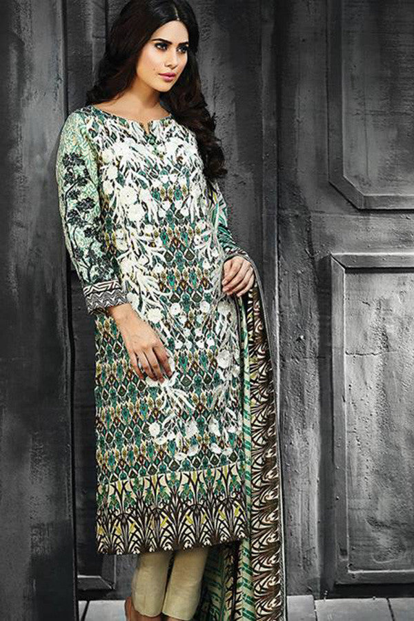 RajBari Silk Karandi Winter Collection 2015 - 5A - YourLibaas  - 1