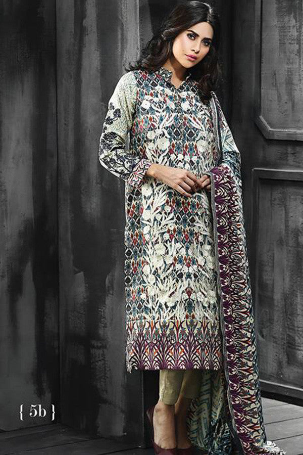 RajBari Silk Karandi Winter Collection 2015 - 5B - YourLibaas  - 1
