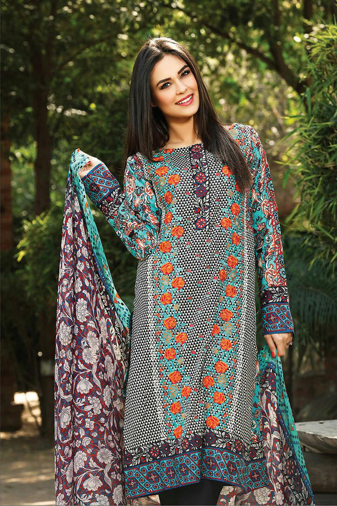 RajBari Spring/Summer Embroidered Lawn – 05B - YourLibaas  - 1